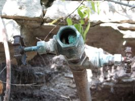 Rusty Faucet 3 by Altaria13-Stock