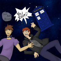 Doctor Who and Achievement Hunter~{Doctor Gavin} by Ezien