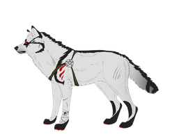 Demon Hunter Wolf Auction by Fells-Adopts