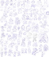 some MORE doodles by Nintendrawer