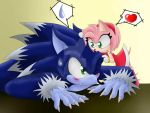 Sonic The Werehog y Amy Rose by MonicaShadowXD
