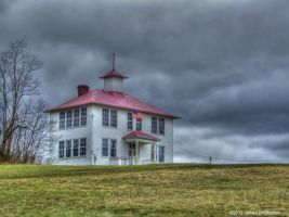Old Schoolhouse On The Hill by jim88bro