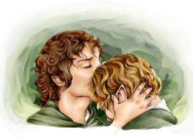 Frodo and Sam by ClassicalNocturne