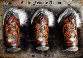Celtic Female Armor Vambraces - WIP by Deakath