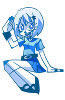 Practice Girl In Blues by Krooked-Glasses