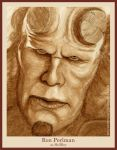 Ron Perlman as HellBoy by strryeyedreamr27