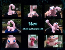 ---SOLD--- Posable 'Mew' Art Doll by stephanie1600