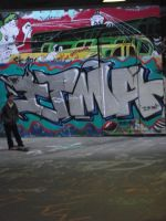 the graffitti on the walls by stucker1987
