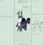 Anidux Guide Sheet [Closed Species] by tailsOrigins