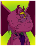 Father/Son Embrace by BennytheBeast