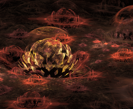 Fractal Flowers by Ex3quias
