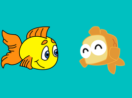 Freddi Fish-Fish Out Of Water crossover by dev-catscratch