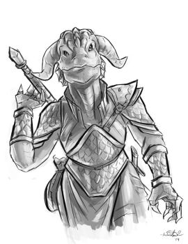 Dragonborn Cleric by lewinston