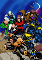 X men color 1 by RodneyCJacobsen
