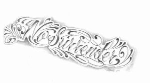 chicano lettering no surrender by 2Face-Tattoo