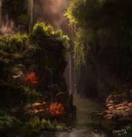 Landscape study by Charaky