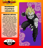 Shadow Puppet Vegeta Bio Card by MalikStudios