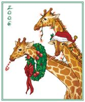 Christmas Giraffes by AmyClark