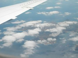 Flying over the clouds by kailor