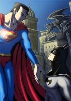 superman and batman by koratCF
