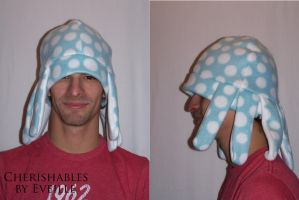 Blue Dot Octopus Hat by EveilleCosplay