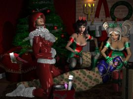 Christmas Wrapping by Tuffers-Art