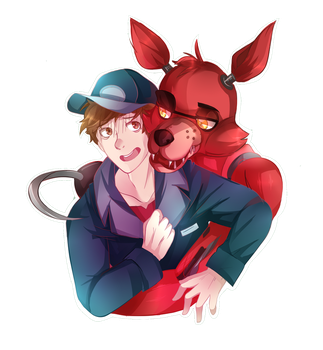 Mike and Foxy by TheHobbyHorse