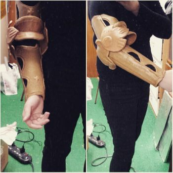 Drakengard 3 arm (cosplay progress) by Puma-Lightning
