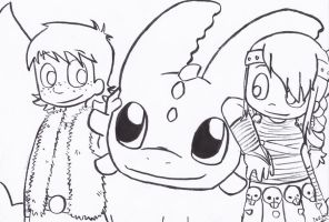 HTTYD lineart by LeniProduction