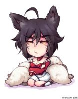 Chibi Ahri with short hair by 5-ish