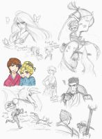 Strange Magic sketches: Japan AU by Kiyomi-chan16