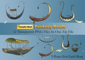 Fantasy Boats PNG Stock Pack by Roys-Art