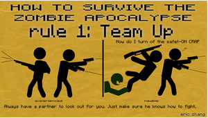 How to Survive the Zombie Apocalypse: Rule 1 by Number9Robotic