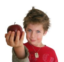 Boy with Apple by rachellcoe