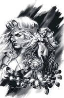 Black and white Lady Death by felipemassafera