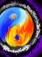 Yin Yang: Fire and Water by ElliaTamachi