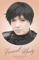 Monty Oum Tribute (Typographic Portrait) by DanTherrien101