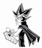 Atem with dueldisk by teanachan