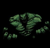 Sketchy Hulk by semaj007