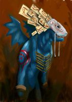 tribal dragon by unded