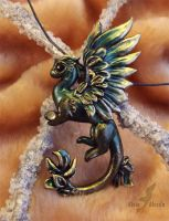 Forest golden lily dragon for AurukaSunshine by AlviaAlcedo