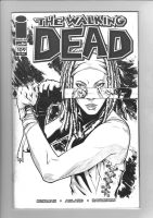 The Walking Dead #109 Blank cover-Michonne by Gay-san
