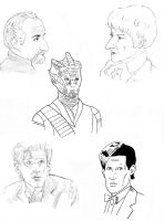 Dr. Who sketches by rocketdave