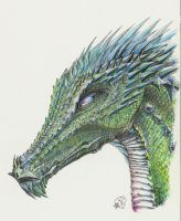 Riverdragon close-up by Aphilien