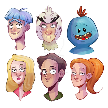 Rick And Morty Doodles by RaposaBoba