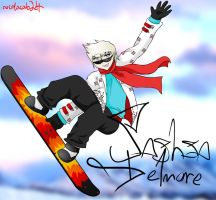 Snowboarding by ColacatintheHat