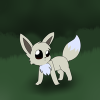 a shiny eevee appears XD by MillyTheTigerKitten