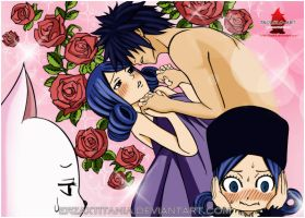 Juvia And Gray by ErzaxTitania