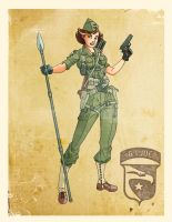 World War II Lady Jaye by El-Mono-Cromatico