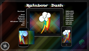 Rainbow Dash FiM Cutie Mark Wallpaper by chrisringeisen